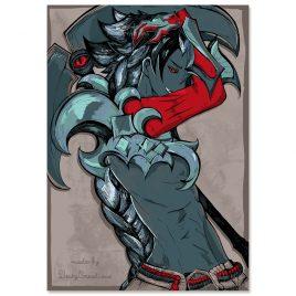 Kayn-Leage-of-Legends-fanart-print-color by .