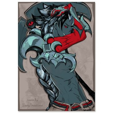 Kayn-Leage-of-Legends-fanart-print-color by .
