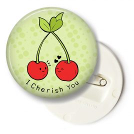 Kersen-button-groen-groot by .