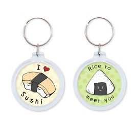 Keychain-Sushi-DewyCreations by Dewy Venerius.