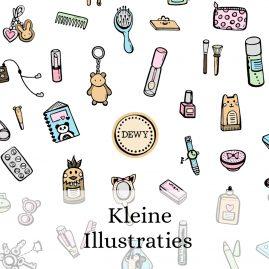 Kleine-losse-schattige-illustraties-Dewy-Venerius by .