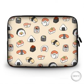 Laptop-sleeve-sushi-pattern by Dewy Venerius.