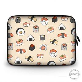 Laptop-sleeve-sushi-pattern by Dewy Venerius.
