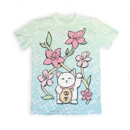 Lucky-Cat-t-shirt-kawaii-DewyCreations by Max Fatfullin.