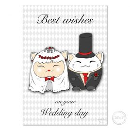 Lucky-Cat-wedding-cardB by Dewy Venerius.