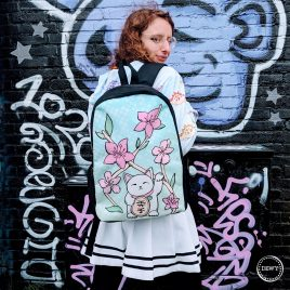 Lucky-cat-backpack-DewyCreations by .