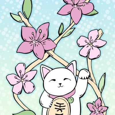 Lucky Cat Illustration