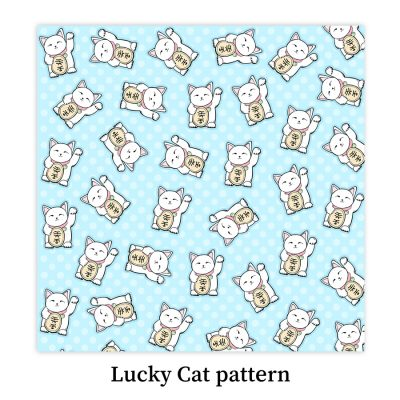 Lucky-cat-pattern-DewyCreations by Dewy Venerius.