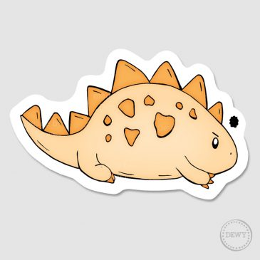 Mad-dino-sticker by Dewy Venerius.