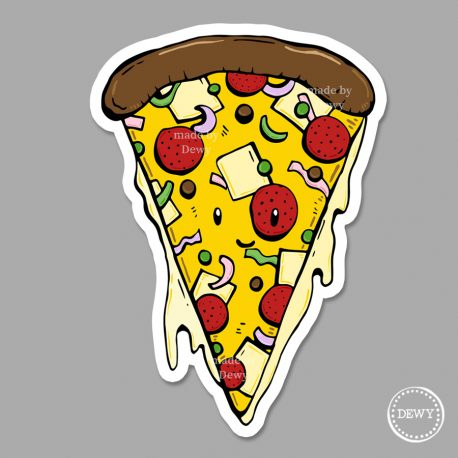 Magneet-pizza by Dewy Venerius.
