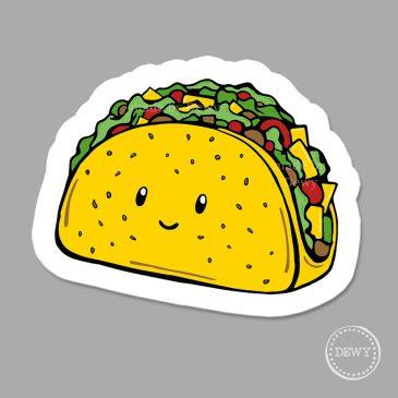 Magneet-taco by Dewy Venerius.