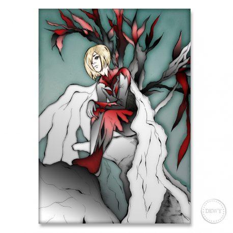 Manga-fantasy-boy-illustration-postcardC by Dewy Venerius.