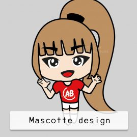 Mascotte-design-anime-girl-DewyCreations by .