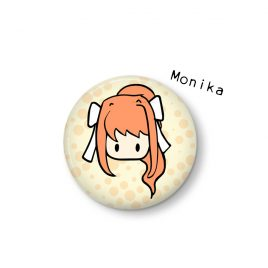 Monika-button-Doki-Doki-Literature-Club by .