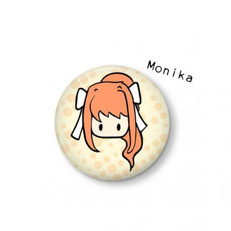 Monika-button-Doki-Doki-Literature-Club by .
