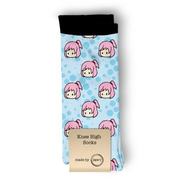 Natsuki-DDLC-socks-DewyCreations by .