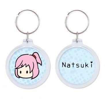 Natsuki-keychain-Doki-Doki-Literature-Club by .