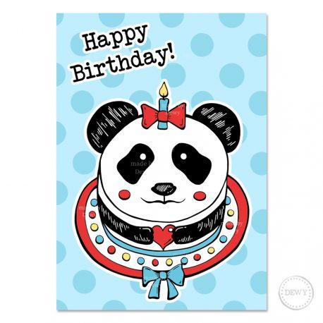 Panda-happy-birthday-card by Dewy Venerius.