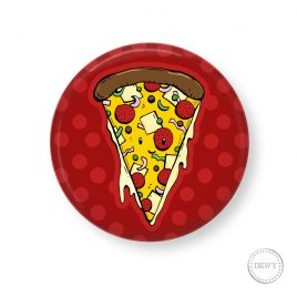 Pizzapunt-button by Dewy Venerius.