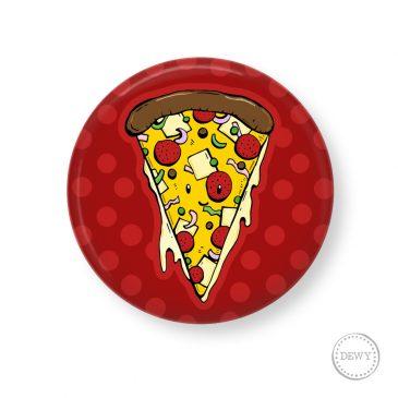 Pizzapunt-button by Dewy Venerius.