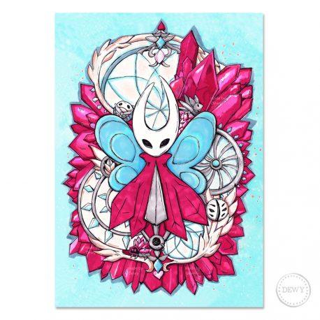Poster-Hornet-Hollow-Knight-Crystal-Peak by Dewy Venerius.