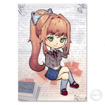 Poster-Monica-doki-doki-literature-club by Dewy Venerius.
