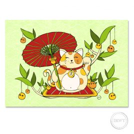 Poster-lucky-cat-parasol-webC by Dewy Venerius.