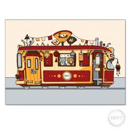 Postkaart-Asian-tram7B by Dewy Venerius.