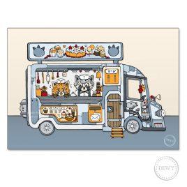 Postkaart-Foodtruck4C by Dewy Venerius.