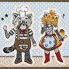 Postkaart-Foxy-Trash-Panda-koks3B by Dewy Venerius.