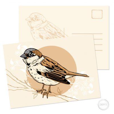 Postkaart A5 mus