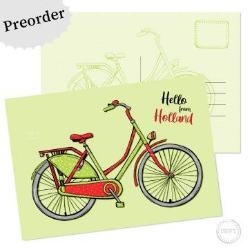 Preorder postkaart fiets - Dewy Venerius