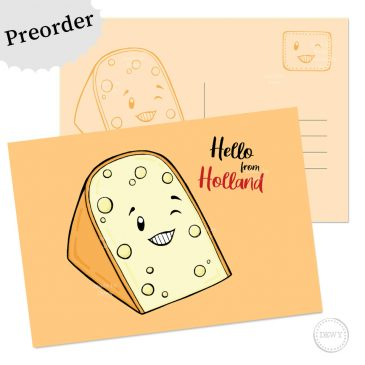 Preorder Hello from Holland postkaart kaas