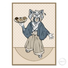 Raccoon-Trash-Panda-Kimono-illustrationB by Dewy Venerius.