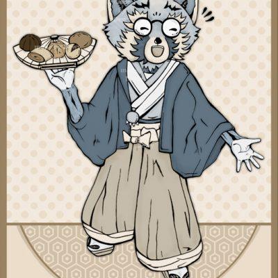 Trash Panda in kimono