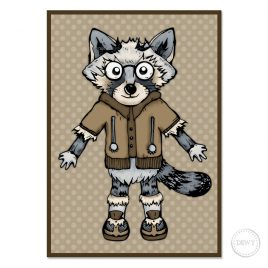 Raccoon-Trash-Panda-postcard4B by Dewy Venerius.