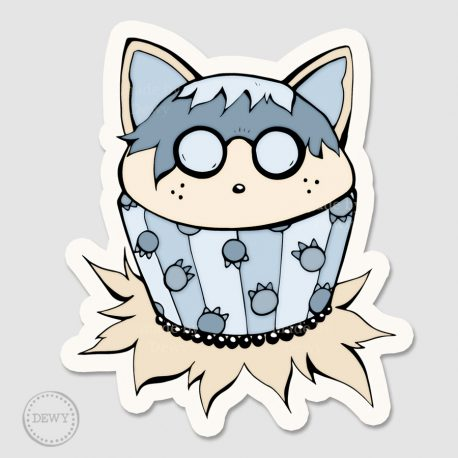 Raccoon-cupcake-stickerB by Dewy Venerius.