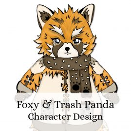 Red-Panda-Racoon-character-design by .