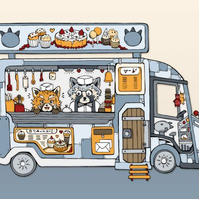 Foodtruck Illustration