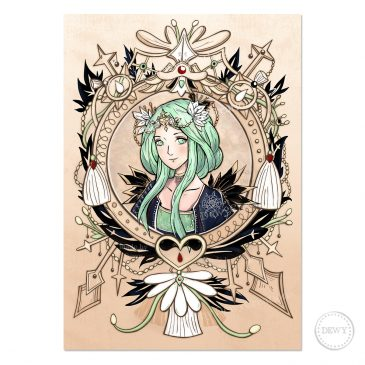 Rhea-Fire-Emblem-Three-Houses-poster-design-victorian-style-DewyCreations by .