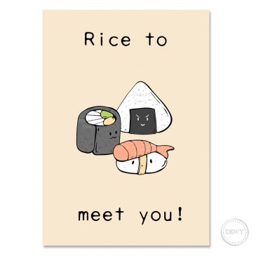 Rice-to-meet-you-postcard-DewyCreations by Dewy Venerius.