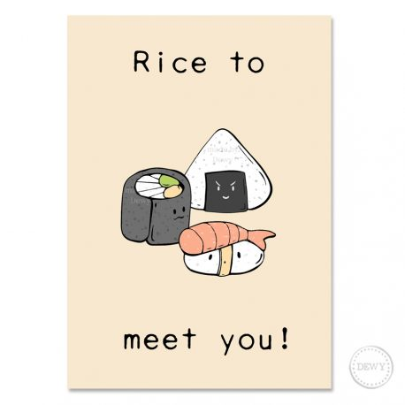 Rice-to-meet-you-postcard-DewyCreations by Dewy Venerius.