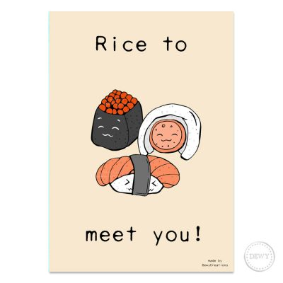 Rice-to-meet-you-postcard1-DewyCreations by Dewy Venerius.