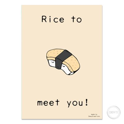 Rice-to-meet-you-postcard2-DewyCreations by Dewy Venerius.