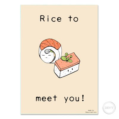 Rice-to-meet-you-postcard3-DewyCreations by Dewy Venerius.