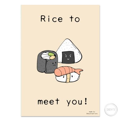 Rice-to-meet-you-postcard5-DewyCreations by Dewy Venerius.