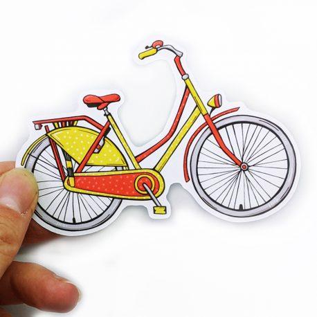 Rode-fiets-sticker-Hello-Holland-Dewy-Venerius-B by .
