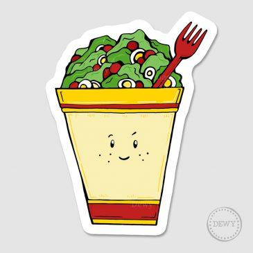 Salade-stickerB by Dewy Venerius.