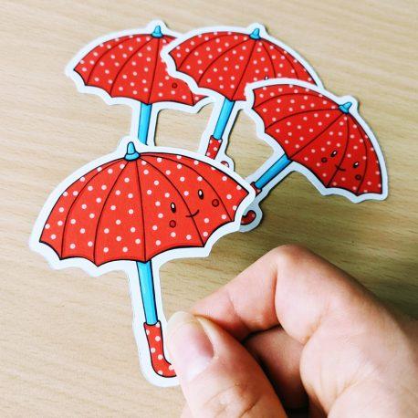 Schattige-paraplu-sticker-herfst-Dewy-Venerius-2 by .