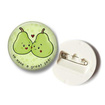 Schattige-peer-paar-button-lovers-DewyCreations by .